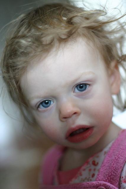 sad girl with a headache